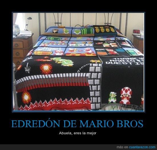 Edredon De Mario Bros.Cuanta Razon Edredon De Mario Bros