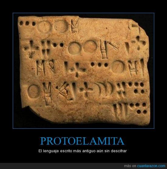 antiguedad,ciencia,escrito,escritura,historia descifrar,idioma,lenguaje,protoelamita,secreto