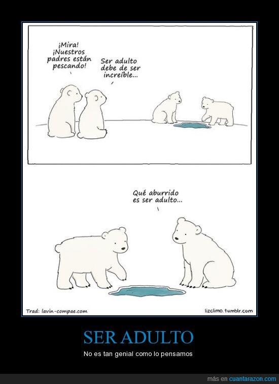 aburrido,adulto,comic,los osos polares son zurdos,osos