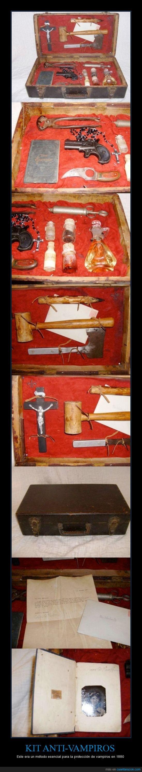 1880,agua bendita,cruz,estaca,fabricación en vano,kit,real,Vampiros