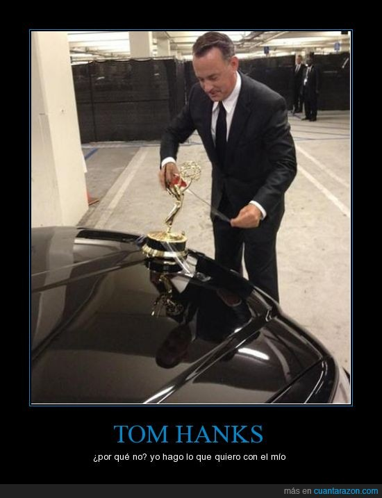 celo,coche,golden globe,pegar,tom hanks