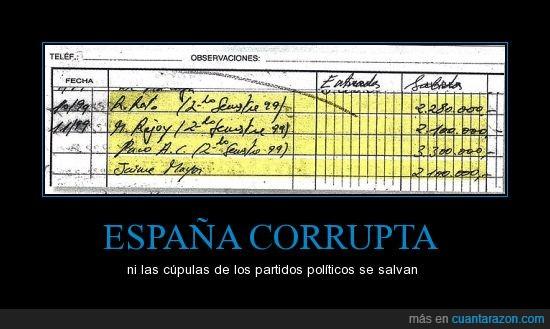 Acebes,Bárcenas,Corrupción,Cospedal,El Pais,estamos hasta los cojones,Mayor Oreja,NO AL DINERO NEGRO,Rajoy,Rato
