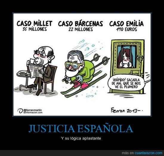 barcenas,corrupcion,emilia,españa,euros,justicia,lógica,millet,millones