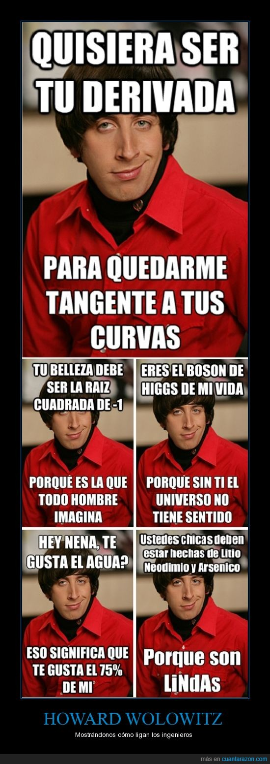 chistes,Howard,ligar,lineas de conquista,TBBT,The Big Bang theory,Wolowitz