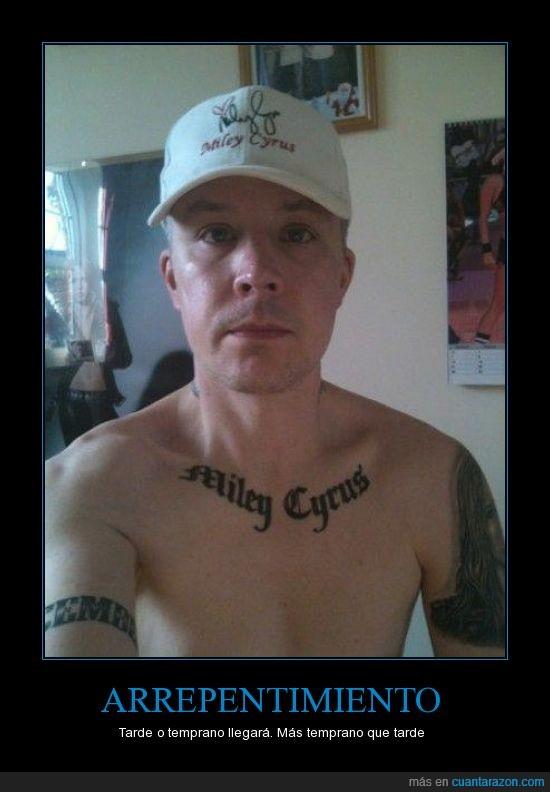 15,arrepentimiento,fan,hanna montana,miley cyrus,tatuaje