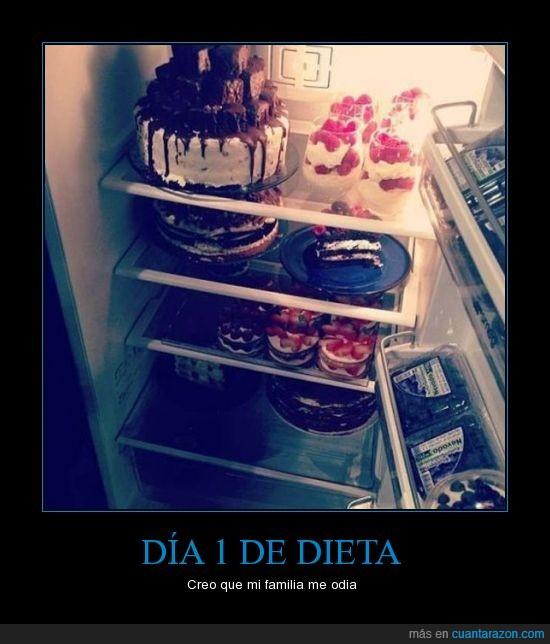 adelgazar,comida,dieta,gorda,gordo,icoooo,llena,ñam,nevera,pasteles