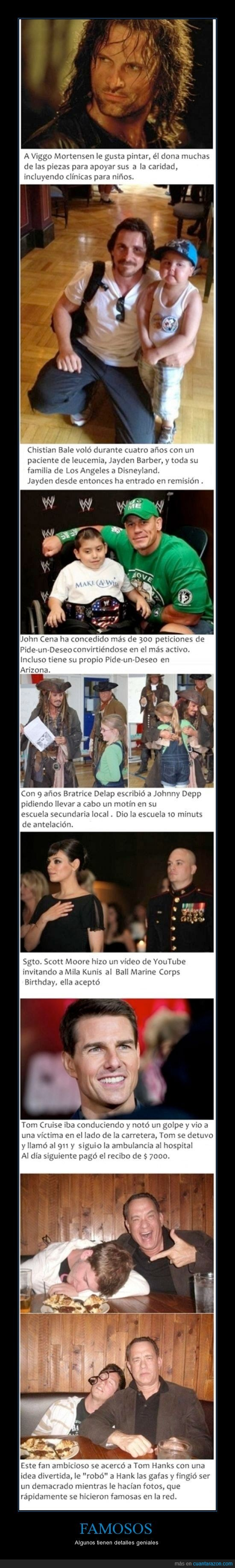 bale,cena,christian,cruise,depp,famosos,hanks,john,johnny,kunis,mila,mortensen,tom,viggo