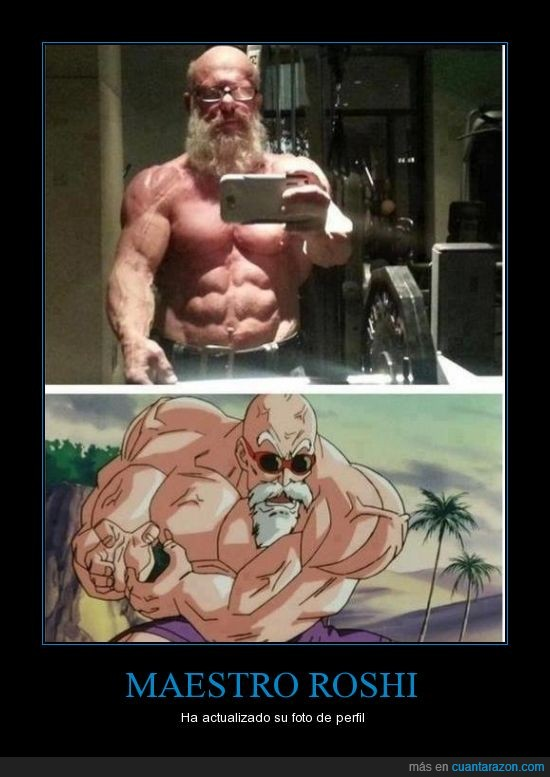 abuelo,Dragon Ball,edad avanzada,foto de perfil,foto en el baño,Maestro roshi,músculo,viejo