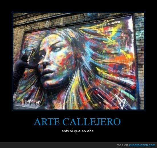 3D,arte callejero,cara,chica,color,graffiti