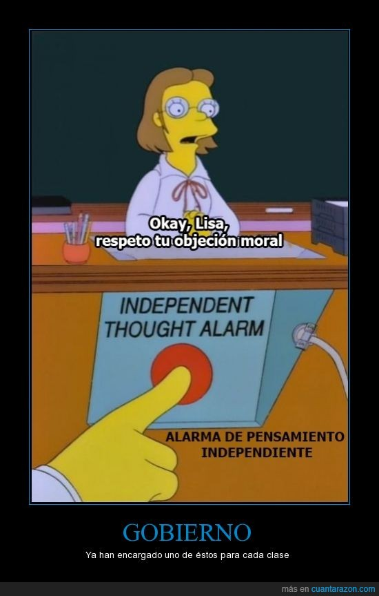 clase,fili.others,Gobierno,Lisa,los Simpson,Pensamiento Independiente,PPSOE,profesor