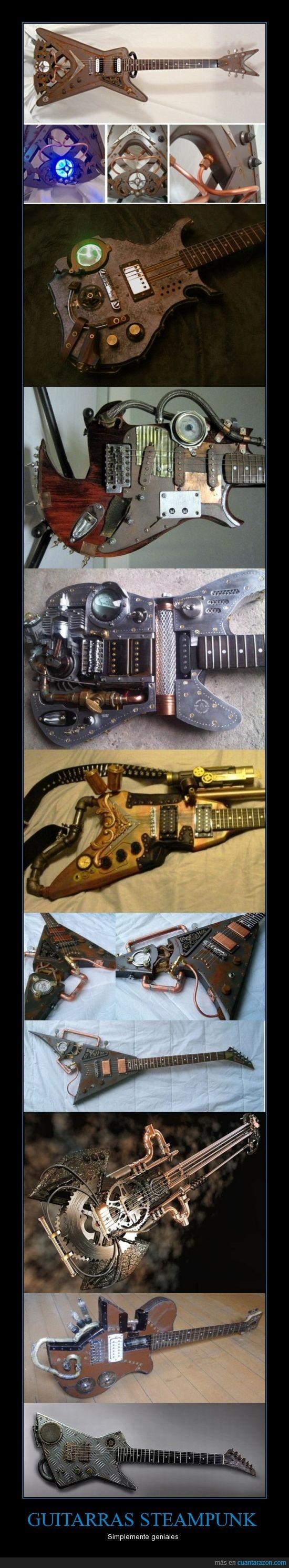 electrica,engranaje,geniales,guitarras,mecanismo,steampunk