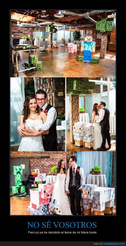 bodas,friki,minecraft,pixel