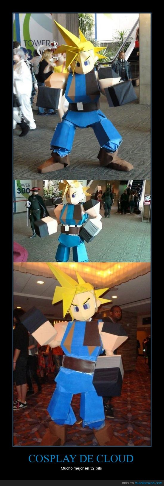 32 bits,Cloud,Cosplay,Final Fantasy VII,Play Station