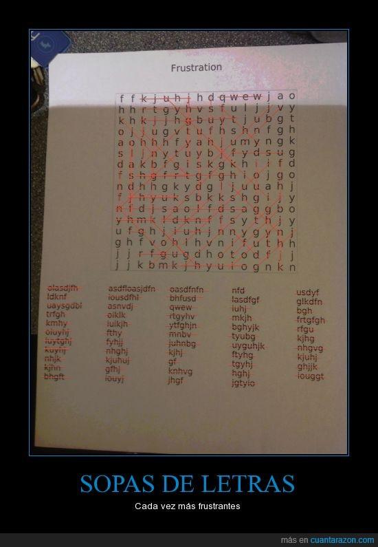 asdfg,frustrante,letra,random,sopa de letras