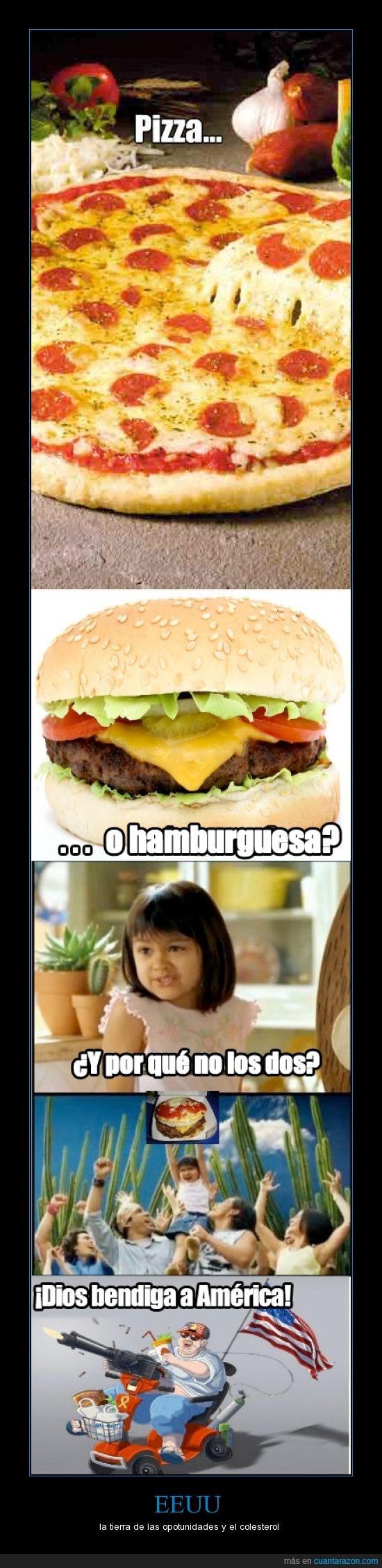 colesterol,estados unidos,hamburguesa,mezcla,pizza