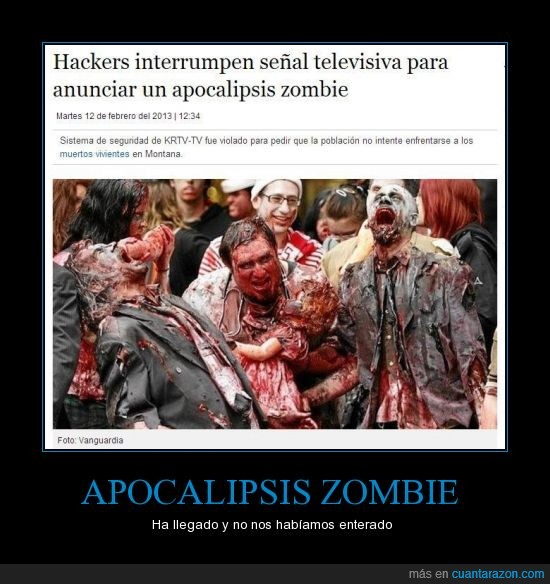 annonymous,apocalipsis,hackers,televisión,troll,trollear,zombie