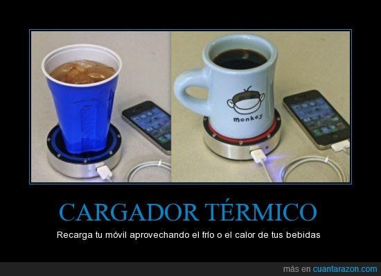 bebidas,Cargador,celulares,temperatura,térmico