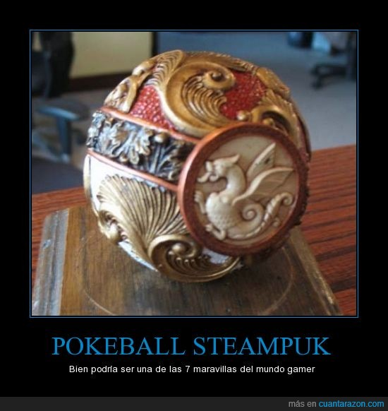 dragon,maravilla,pokeball pokemon,pokemon,quiero una,steampunk