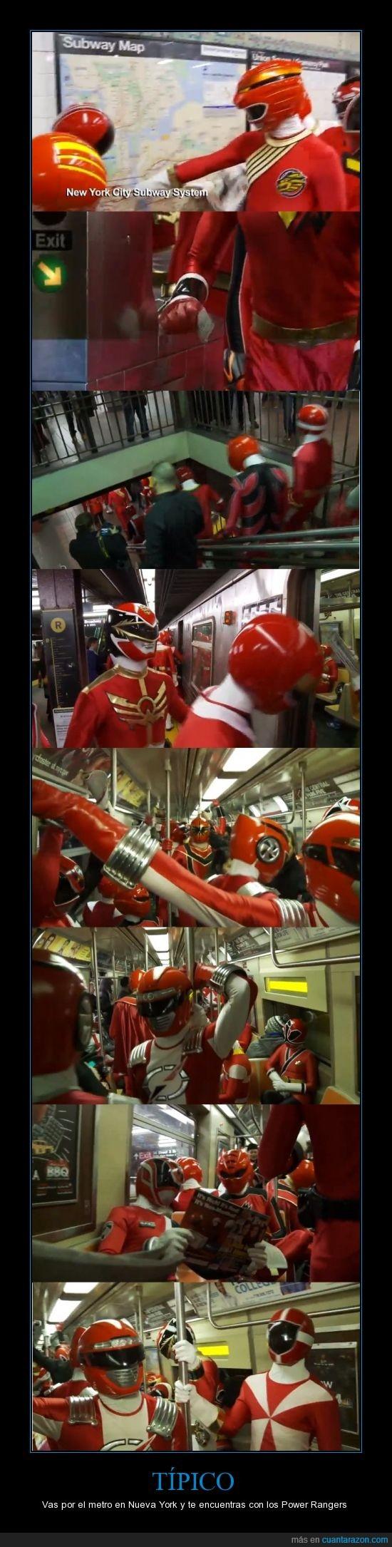 metro,nueva york,power rangers,rojo