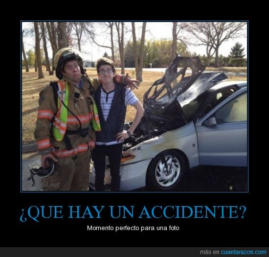 accidente,bombero,coche,conducir,joven,transito
