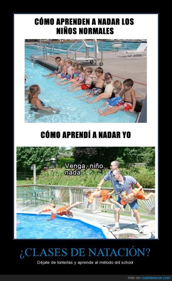 clase,nadar,natacion,piscina,saltar,tirar