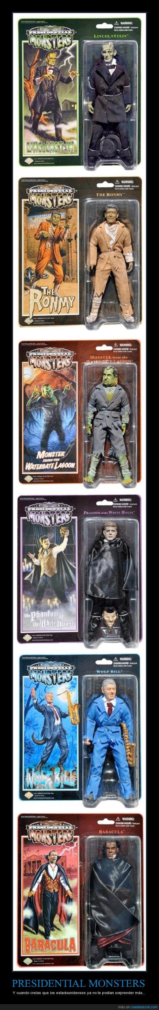 dracula,figura,jfk,juguete,monstruo,mosnter,nixon,obama
