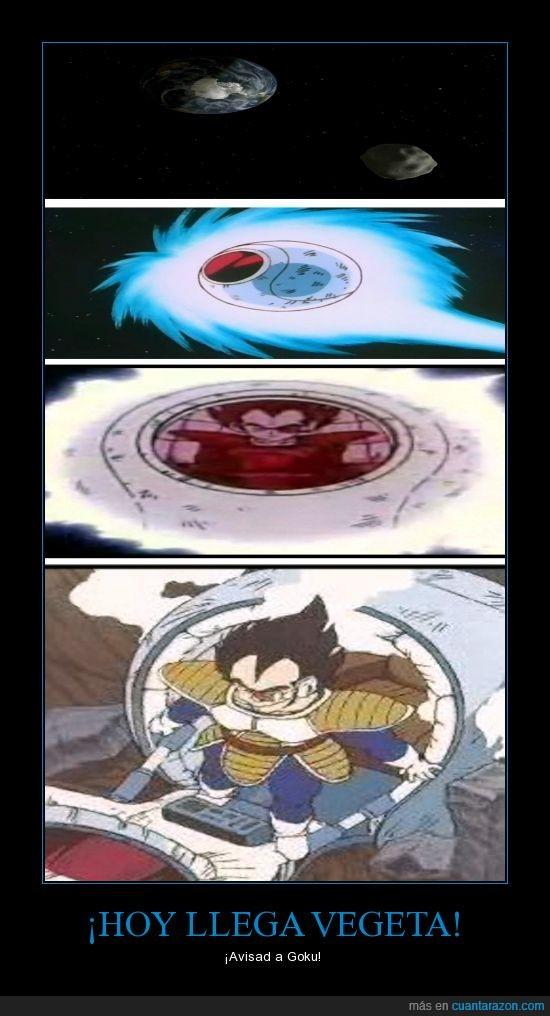 2012 DA14,Dragon Ball,Goku,llegará a tiempo?,meteorito,Vegeta