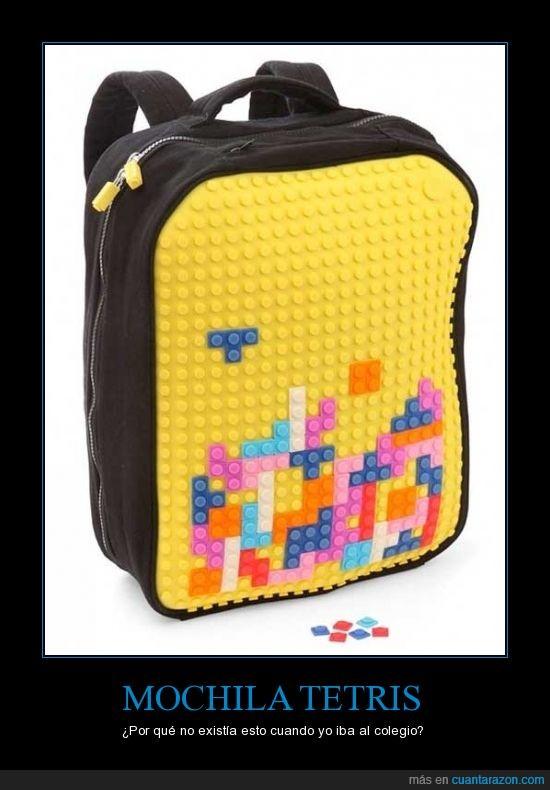 encaja,juego,mochila,pieza,tetris