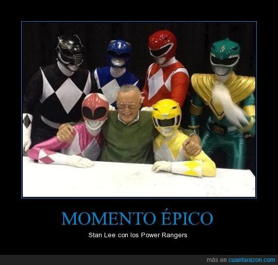 amarillo,azul,marvel,negro,power rangers,rojo,rosa,Stan lee,verde