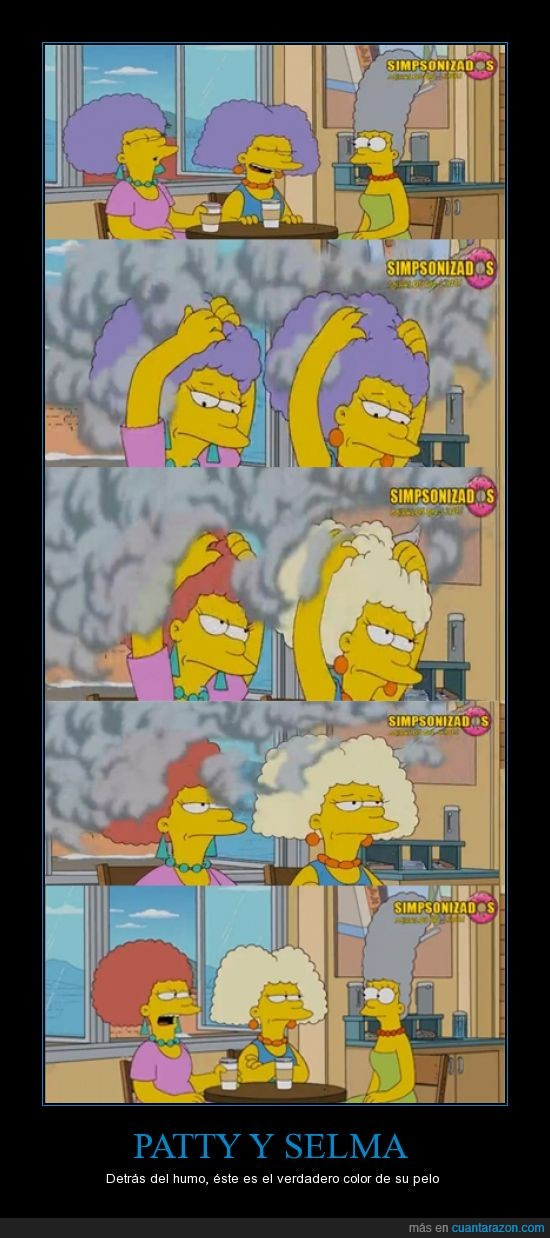 Bouvier,Color,fumar,Patty,Selma,Simpson,Verdero
