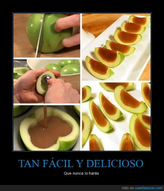 comer,Delicioso,dulce,gelatina,manzana,postre,tutorial