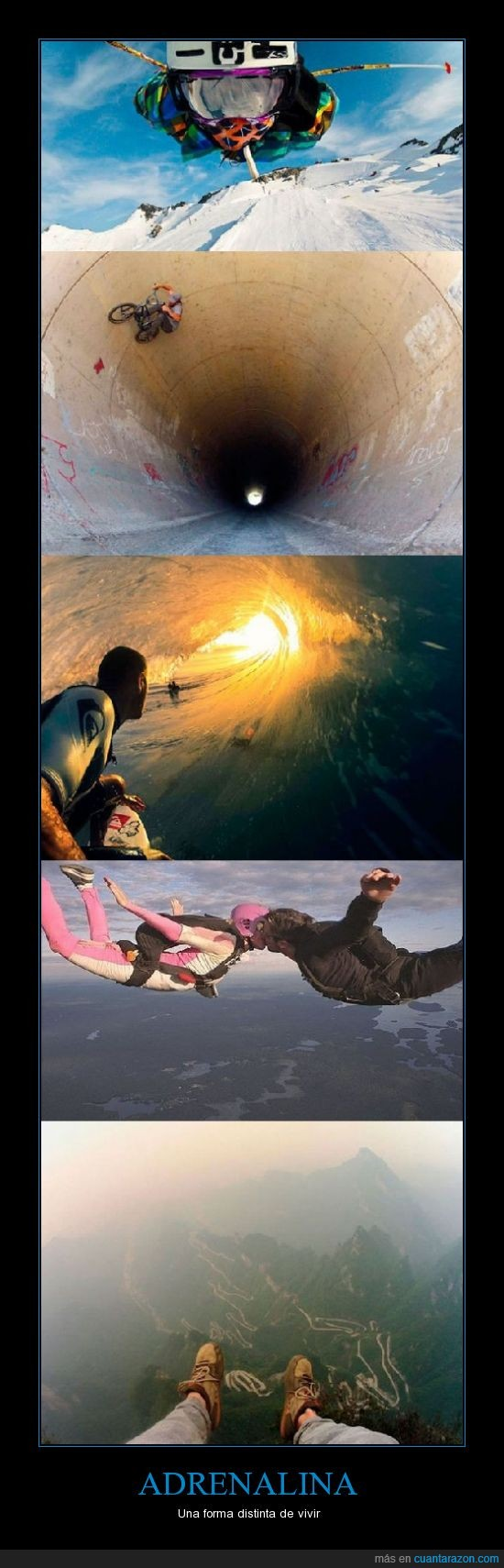adrenalina,bicicletas,paracaidas,saltar,vivir