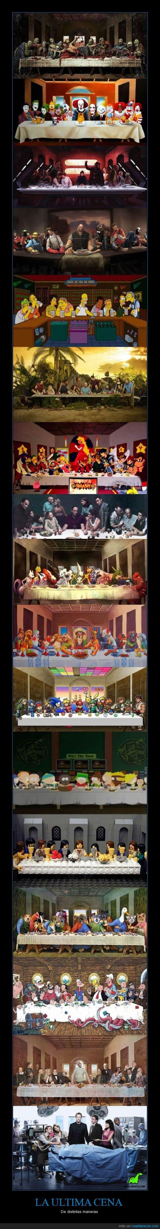 animales,Cena,Dr House,Einstein,los simpson,maneras,Mario,Payasos,pensadores,perros,personaje,Pokemón,Popeye el marino,series,The Jocker,ultima cena