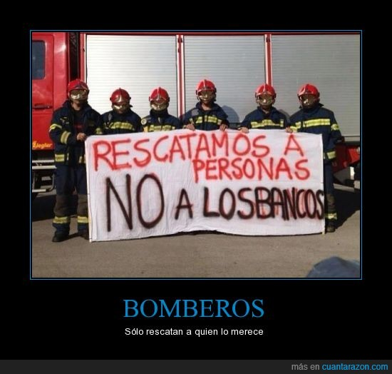 banco,bombero,manifestacion,persona,rescata