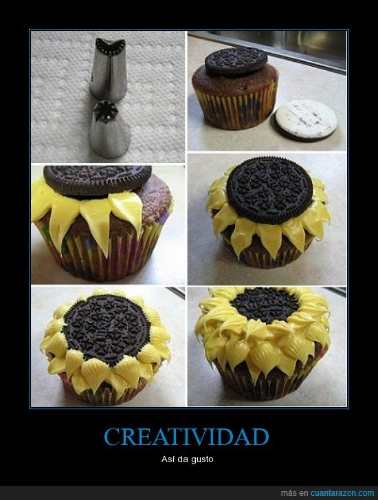 cupcake,dulce,galleta,girasol,magdalena,oreo