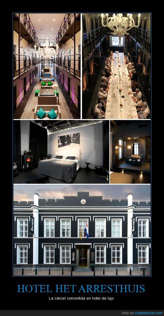 cárcel,convertir,Holanda,Hotel,lujos