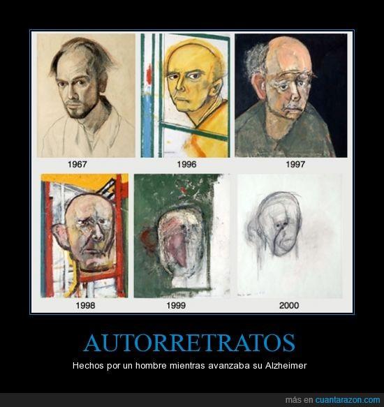 alzheimer,autorretratos,pintor,retrato,triste