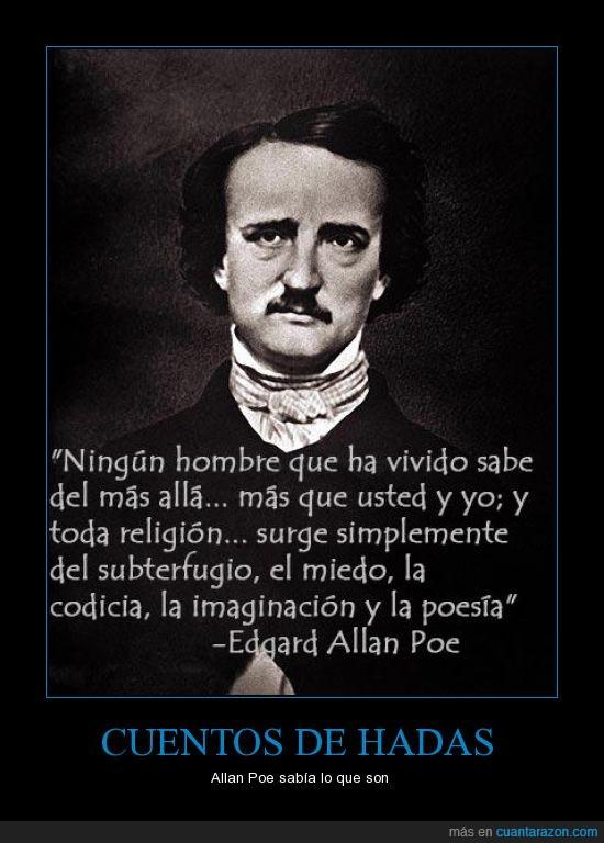Allan Poe,cuentos,mas allá,miedo,religion