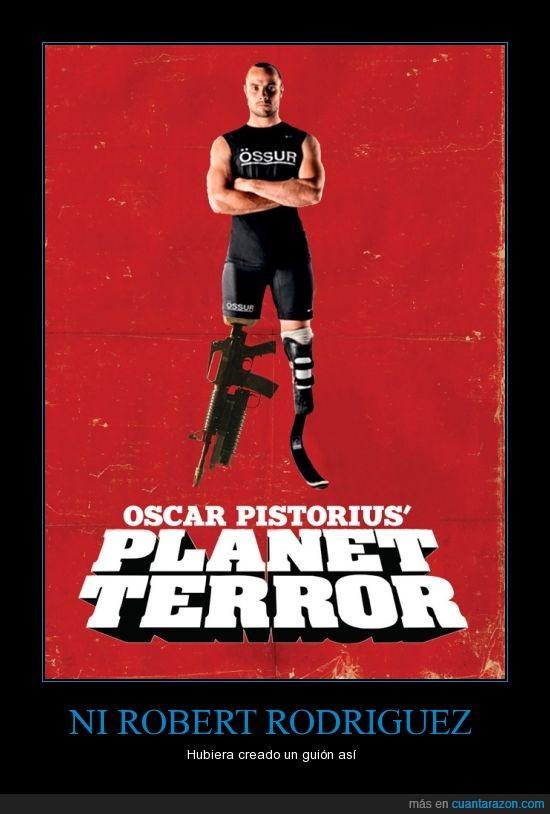 asesino,atleta,cojo,loco obsesivo,mujer,novia,pistorius,planet terror,robert rodriguez,sudafrica,tarantino