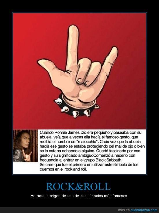 abuela,Black Sabbath,mal de ojo,mano cornuta,Ronnie James Dio
