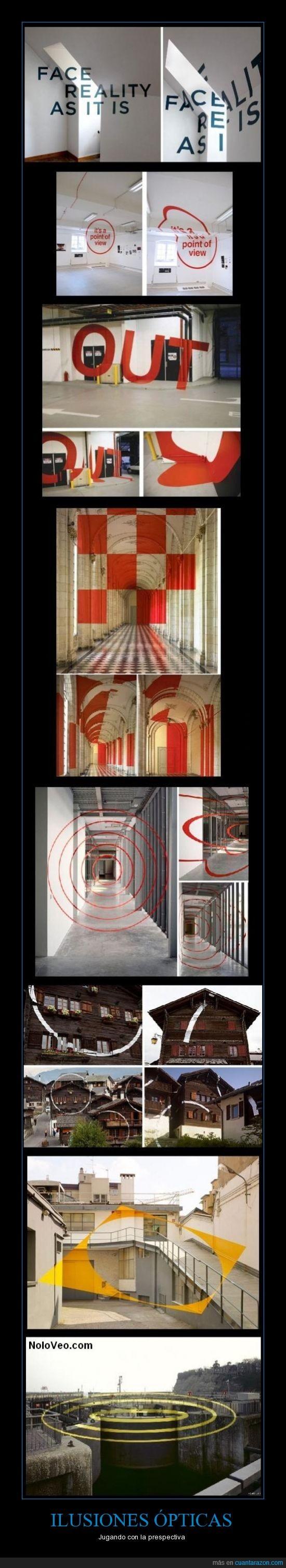 dibujos,formas,ilusión óptica,paredes,pintura,prespectiva
