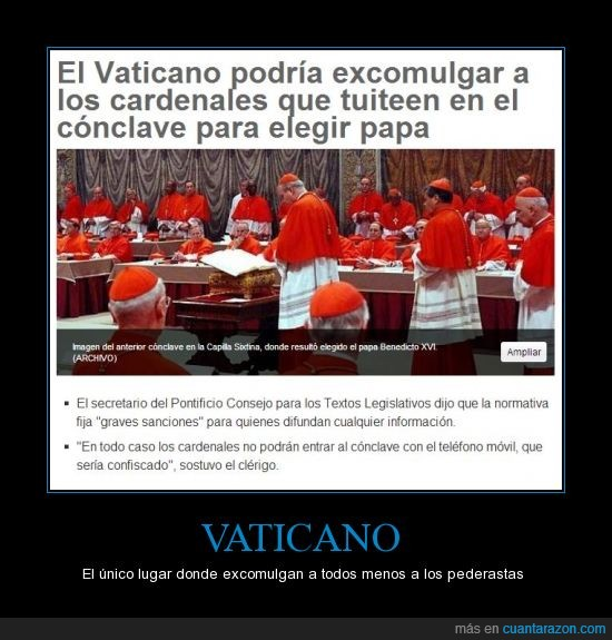 excomulgar,logica not found,lugar,religión,twittear,twitter