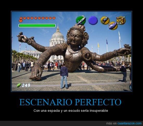 epico,escudo,espada,estatua,jefe,zelda