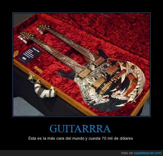 arte,cara,doble,dolares,guitarra,hermosa