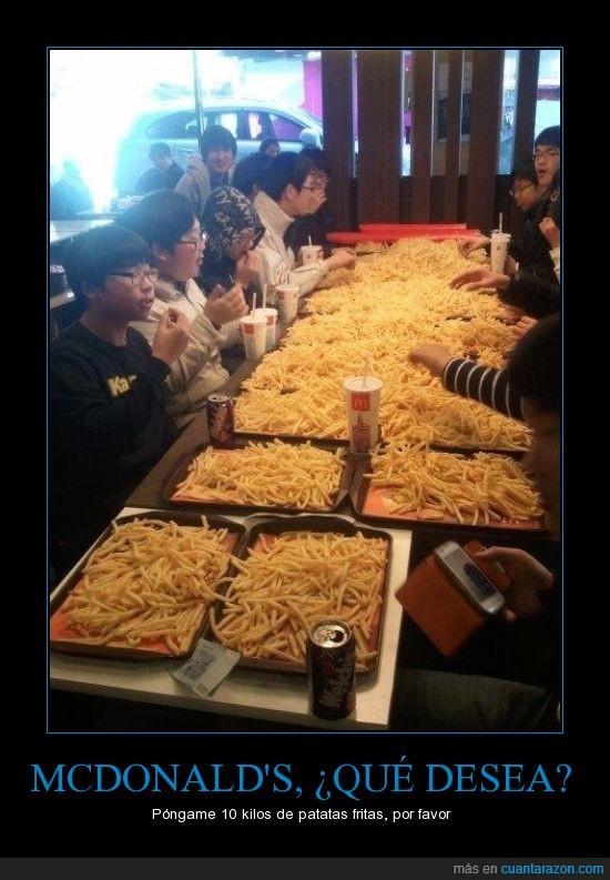 chinos,McDonald's,patatas fritas