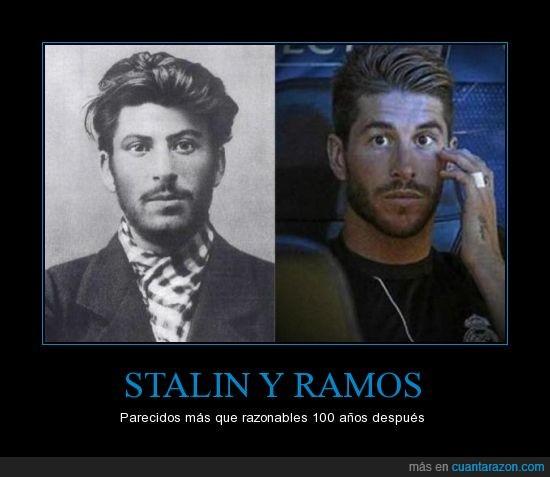comunismo,futbol,parecido,politica,ramos,razonable,stalin