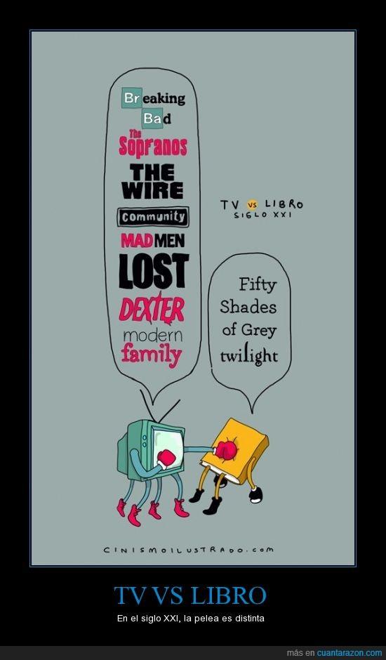 50 sombras de gray,breaking bad,dextter,libros,lost,mejores series,modern family,series,tv