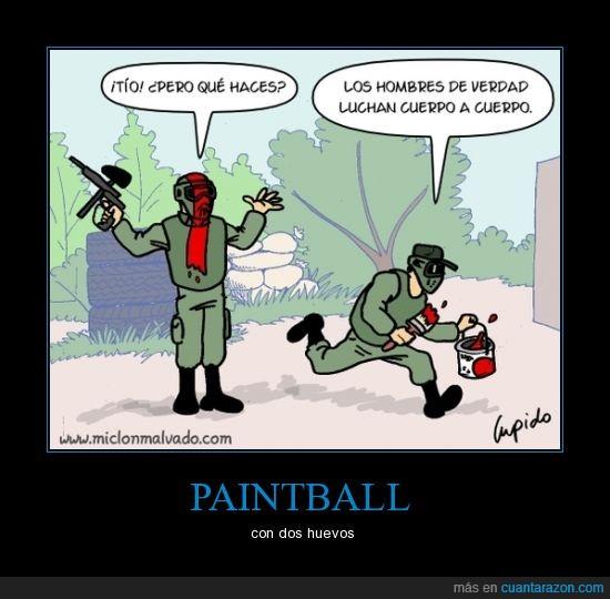 brochazo,cuerpo a cuerpo,paintball,pintar,pintura,pistola