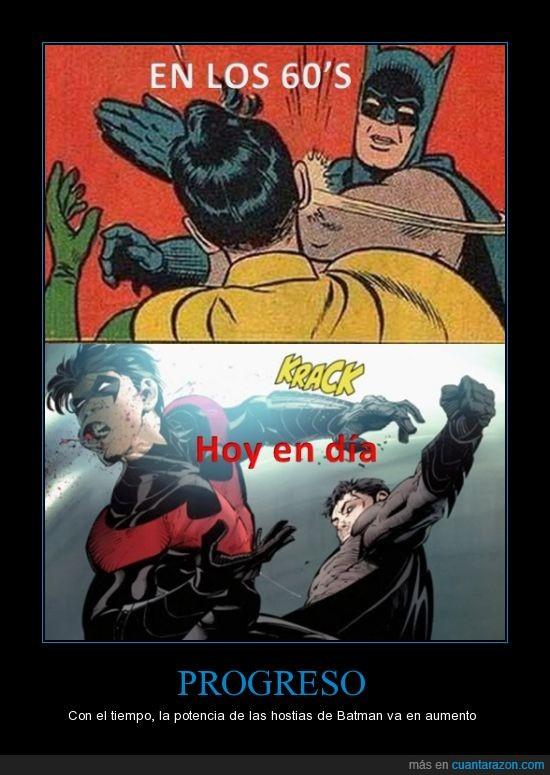 batman,comic,hostia,puñetazo,robin,slap