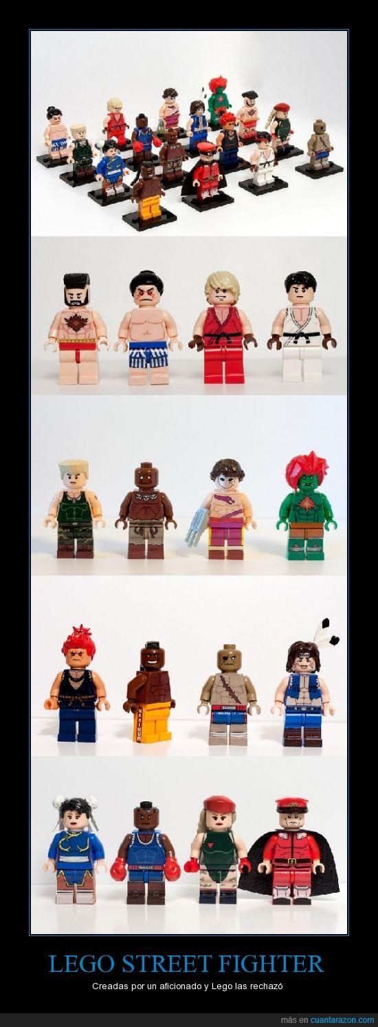 aficionado,crear,LEGO; Street Figthter